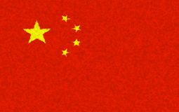 Illustration of Chinese flag with a blotch pattern. Graphic illustration of Chinese flag with a blotch pattern royalty free illustration