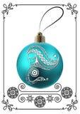 Graphic illustration with Christmas decoration 31 stock illustration