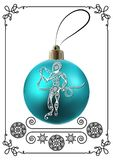Graphic illustration with Christmas decoration 33 Stock Photography