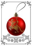 Graphic illustration with Christmas decoration 25 royalty free illustration