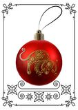 Graphic illustration with Christmas decoration 24 vector illustration