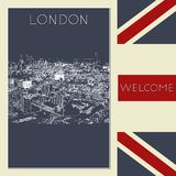 Graphic illustration with decorative architecture 107. Sketch of London. Vector illustration vector illustration