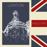 Graphic illustration with decorative architecture 106. Sketch of London. Vector illustration vector illustration