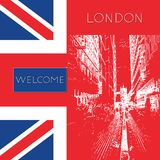 Graphic illustration with decorative architecture 57. Sketch of London. Vector illustration Stock Photo