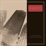Graphic illustration with decorative architecture 65. Sketch of London. Vector illustration Royalty Free Illustration