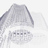Graphic illustration with decorative architecture 101. Sketch of New York city. Vector illustration Stock Photography