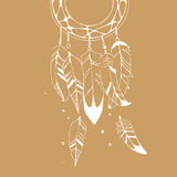 Graphic  illustration of dreamcatcher Royalty Free Stock Images