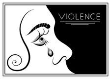 Graphic illustration with elements of violence 1 Stock Photos