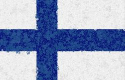 Illustration of a Finnish Flag. Graphic illustration of a Finnish Flag Stock Image