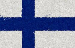 Finnish flag with a blossom pattern. Graphic illustration of Finnish flag with an unusual pattern Stock Photography