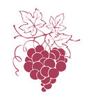 Graphic illustration - grapes in the shape of a heart Royalty Free Stock Photos