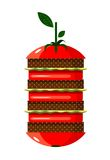 Graphic Tomato Hamburger Stock Photo