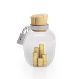Graphic illustration icon glass jar Stock Photos