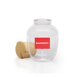 Graphic illustration icon glass jar Stock Image
