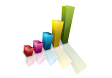 Graphic. Illustration of percentages Stock Photo