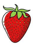 Graphic illustration of strawberry Stock Photos