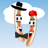 Frankfurter characters Royalty Free Stock Images