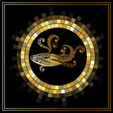 Graphic illustration with zodiac sign 2_5 Stock Photos