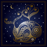 Graphic illustration with zodiac sign 6_7 Stock Photo