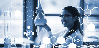 Composite image of graphic image of chemical structure Royalty Free Stock Images