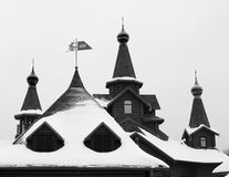 Graphic image of the church roof. Black and white photo og the church roof Stock Images