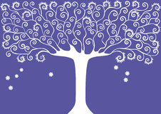 Graphic image collection of trees. seasons. Winter.  vector illustration Royalty Free Stock Image
