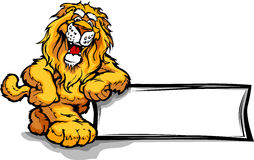 Graphic Image of a Happy Cute Lion Mascot Stock Photo