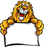 Graphic Image of a Happy Cute Lion Mascot Royalty Free Stock Photos