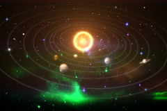 Graphic image of solar system 3d Royalty Free Stock Photo