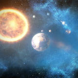 Graphic image of solar system 3d Royalty Free Stock Photography