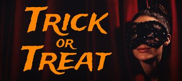 Composite image of graphic image of trick or treat text Stock Images