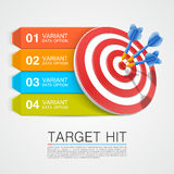 Graphic information target with darts Stock Photography