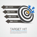 Graphic information target with darts Stock Photo
