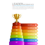 Graphic information Winner cup Royalty Free Stock Photography