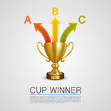 Graphic information Winner cup Royalty Free Stock Photo