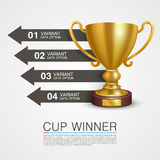 Graphic information Winner cup art Stock Photos