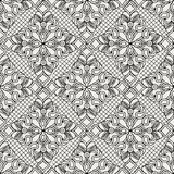 Graphic ink floral pattern Stock Images