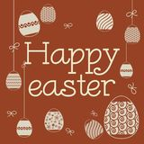 Graphic inscription easter royalty free stock images