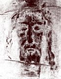 The graphic inspired by Jesus Christ face from Shroud of Turin.  Royalty Free Stock Photography
