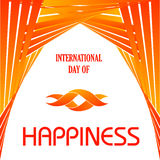 Graphic for International Day of Happiness- March 20 Stock Photos