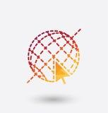 Graphic Internet icon on white background. Stock Photos
