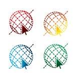 Graphic Internet icons on white background. isolated Internet icons. eps8. Royalty Free Stock Photos