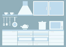 Graphic kitchen interior. Royalty Free Stock Photo