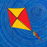 Graphic kite Stock Photo