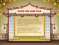 Graphic layout with traditional thai elements Stock Photo