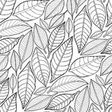 Graphic leaves pattern Royalty Free Stock Image