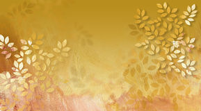 Graphic Leaves with Texture. Graphic digital illustration of simple leaves with hand painted textured brush strokes Royalty Free Stock Images