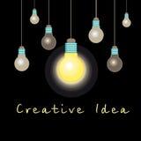 Graphic light bulb idea concept Stock Photo