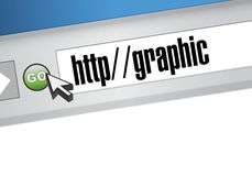 Graphic link on a browser illustration Royalty Free Stock Photo