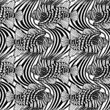 Graphic lion fish pattern Stock Photo